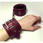 Burgandy Leather Bondage Cuffs Burgandy £54.99