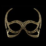 Devil Face Gold Swarovski Crystal Mask Gold £109.99