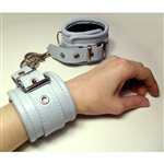 Baby Blue Leather Bondage Cuffs Pale Blue £54.99