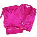 Olivia von Halle Fuchsia Coco Silk Pyjamas by Olivia Von Halle Deep Fucshia &amp;pound;299.00