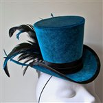 Teale Velvet Topper Black and Blue Feathers £75.99 <span class='priceNOW'>NOW £56.99</span>