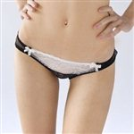 Mimi Holliday Eclair Classic Knicker Porcelain and Black £38.99