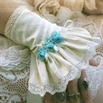 Blue Rose Silk Bridal Cuffs Ivory and Blue £132.99