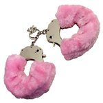 Baby Pink Furry Cuffs Pink   Fetish Fantasy £12.99