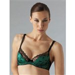Myla Azalea Padded Plunge Bra Emerald by Myla Emerald £79.00 <span class='priceNOW'>NOW £59.25</span>
