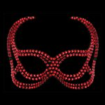 Devil Face Light Siam Swarovski Crystal Mask Light Siam £109.99