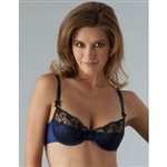 Myla Sophia Demi Cup Pad-Bra by Myla Nightshade Blue £79.99 <span class='priceNOW'>NOW £59.99</span>