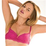 Mimi Holliday Berry Lace Super Padded Plunge Bra Hot Pink Silk & Lace £57.99