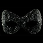  Phantom Jet Black Swarovski Crystal Mask Jet Black &amp;pound;119.99