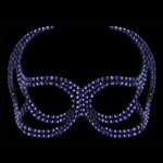  Devil Face Cobalt Blue Swarovski Crystal Mask Cobalt Blue &amp;pound;109.99