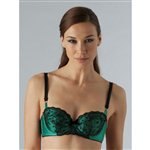 Myla Azalea Padded Balcony Bra Emerald by Myla Emerald £89.00 <span class='priceNOW'>NOW £66.75</span>