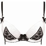 Pleasure State White Label Dragon Mist Plunge Bra Ecru Black &amp;pound;54.99