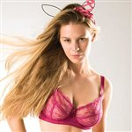 Mimi Holliday Berry Lace Maxi Bra Hot Pink Silk & Lace £57.99
