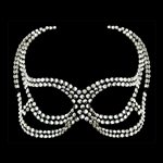 Devil Face Clear Swarovski Crystal Mask Clear Crystal £109.99